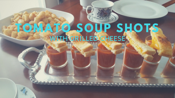 Tomato Soup Shots with Grilled Cheese