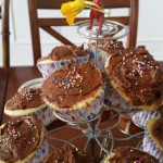 Yellow Chocolate Frosted Cupcakes